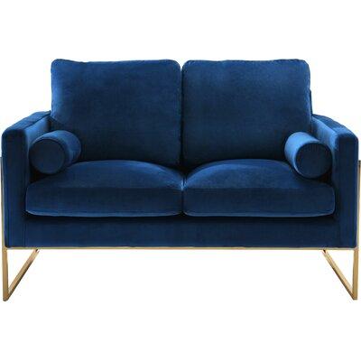Ganley Loveseat Upholstery: Navy