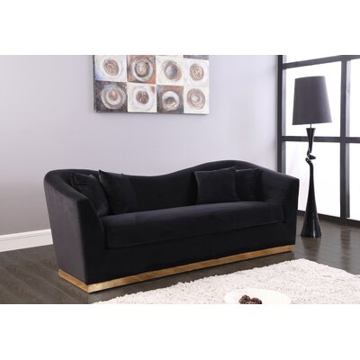 Truchanovicius Sofa Upholstery: Black