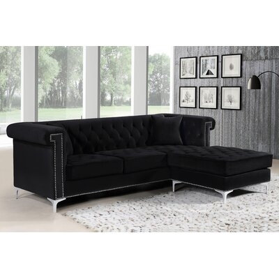 Baity Reversible Sectional Upholstery: Black
