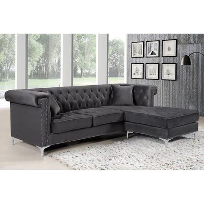 Baity Reversible Sectional Upholstery: Gray
