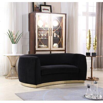 Antonsen Loveseat Upholstery: Black