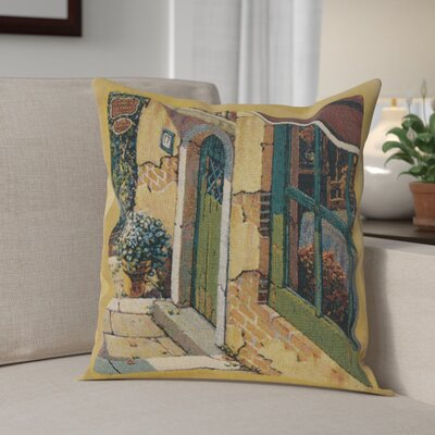 Campana Village Door Cotton Pillow Cover