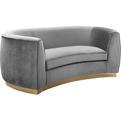Antonsen Loveseat Upholstery: Gray
