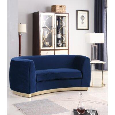 Antonsen Loveseat Upholstery: Navy