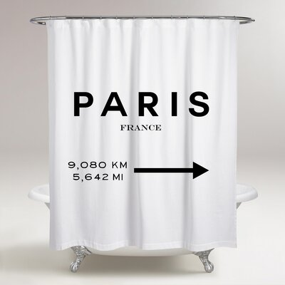 Logue Paris to LA Road Sign Shower Curtain
