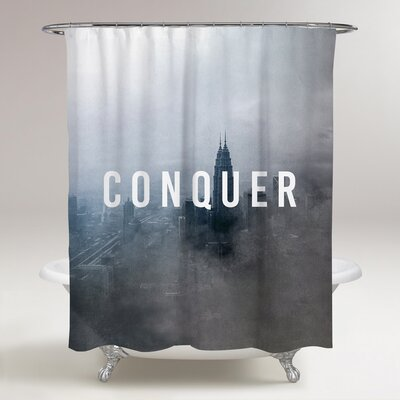 Long Ashton Conquer the City Shower Curtain
