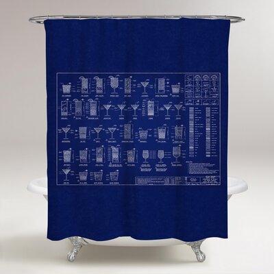 Haden Happy Hour Specs Shower Curtain