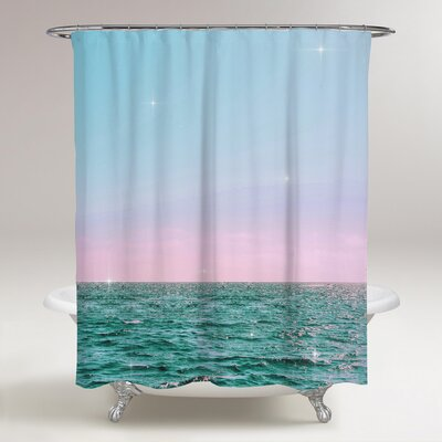 Lohan Pastel Twilight Horizon Shower Curtain