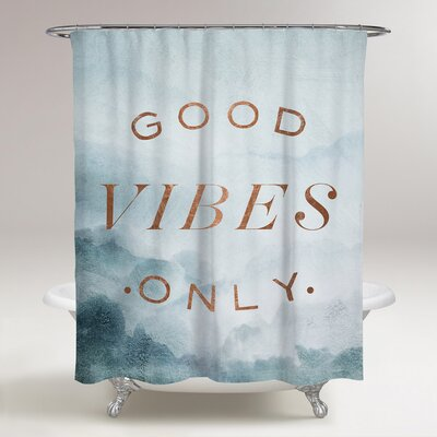 Lomonaco Good Vibes Only Shower Curtain