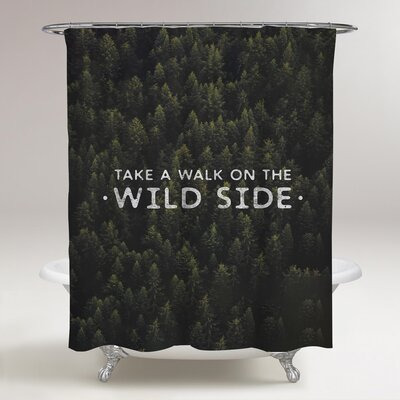 Marone Wild Side Shower Curtain