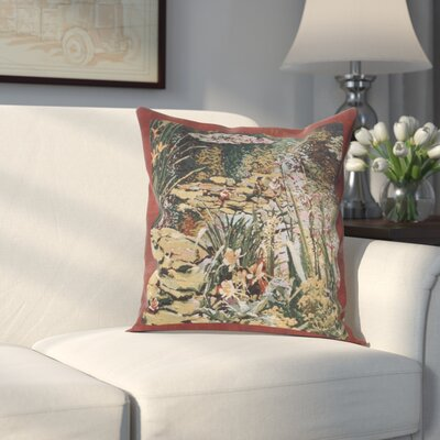 Hilyard Flowers Monets Garden Cotton Pillow Cover
