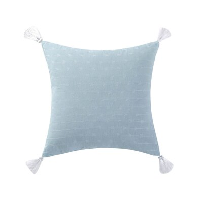 Gamboa Tassel Cotton Throw Pillow Color: Aqua