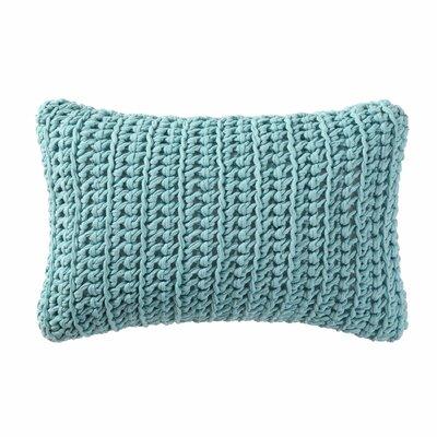 Gamboa Knitted Cotton Lumbar Pillow Color: Aqua