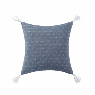 Gamboa Tassel Cotton Throw Pillow Color: Blue