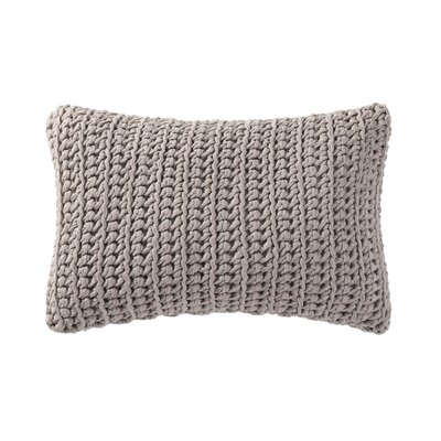 Gamboa Knitted Cotton Lumbar Pillow Color: Gray