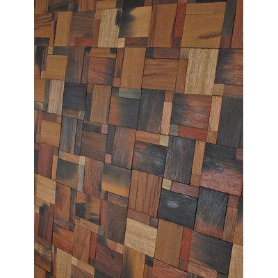Driftwood Matchbox Random Sized Wood Mosaic Tile In Brown