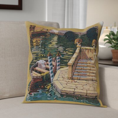Campas Reflections Boat II Cotton Pillow Cover