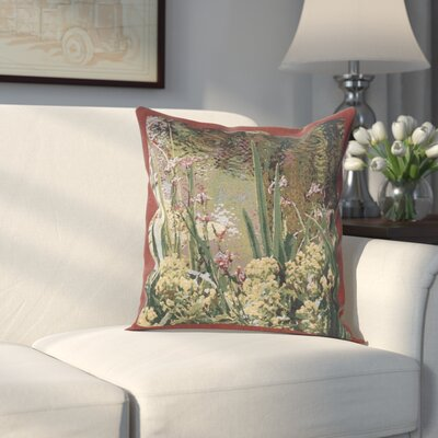 Himrod Lively Water Monets Garden Cotton Pillow Cover