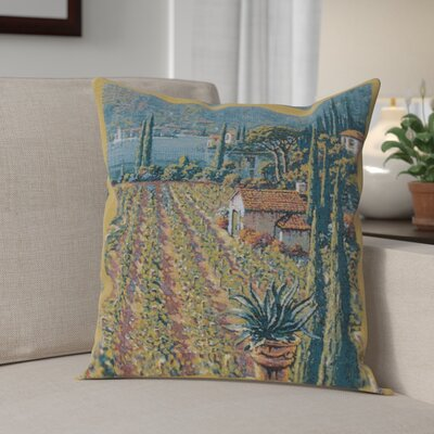Campanella Vineyard Right Cotton Pillow Cover