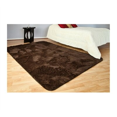 Heacock Plush Brown Area Rug Rug Size: Rectangle 4 x 6