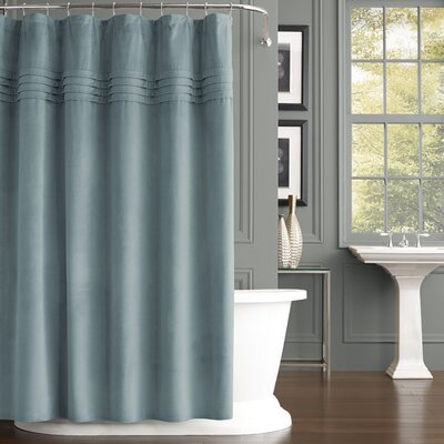 Hough Shower Curtain Color: Aqua