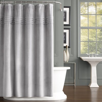 Hough Shower Curtain Color: Silver