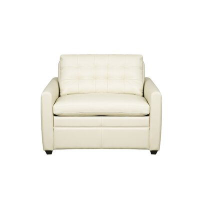 Altone Sleeper Sofa Mattress Type: King, Upholstery: White Linen