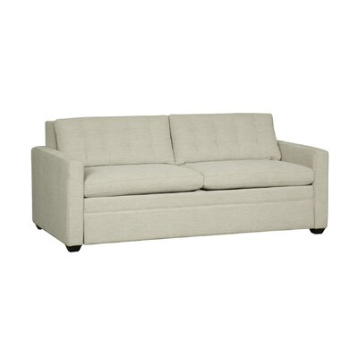 Avonlea Sleeper Sofa Mattress Type: Queen Plus, Upholstery: White Linen