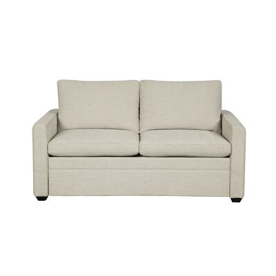 Regent Sleeper Sofa Mattress Type: Twin Chair, Upholstery: White Linen