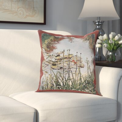 Hilson Waterlily Monets Garden Cotton Pillow Cover