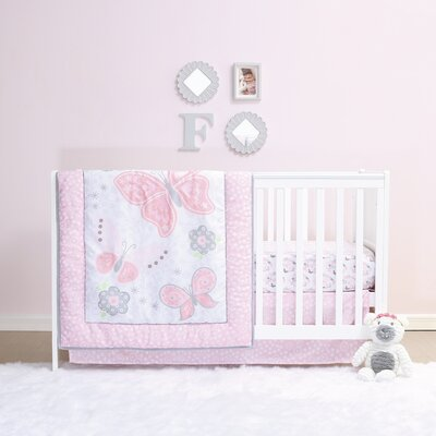 Mariposa 4 Piece Crib Bedding Set BS4MARI