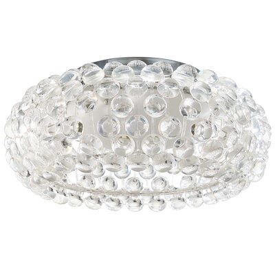 Mitchel Ceiling Fixture 2-Light Flush Mount Size: 8.5 H x 19 W x 19 D