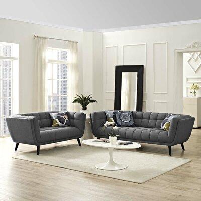 Seneca 2 Piece Living Room Set Color: Dark Gray