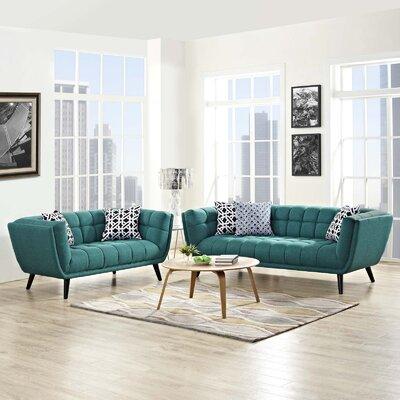 Seneca 2 Piece Living Room Set Color: Teal