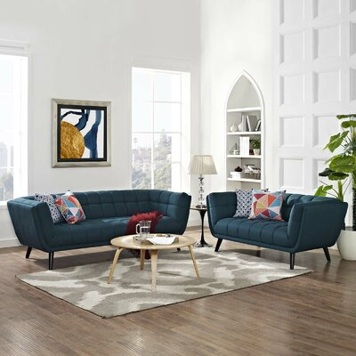 Seneca 2 Piece Living Room Set Color: Blue