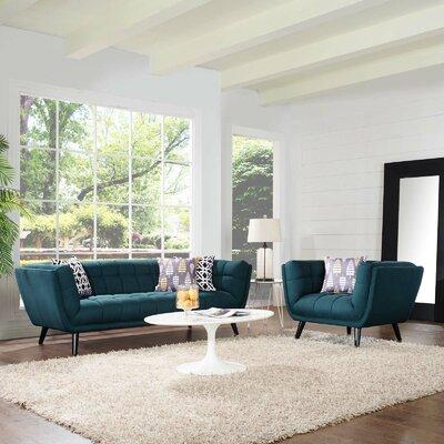 Seneca 2 Piece Living Room Set Color: Blue