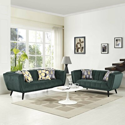 Seneca 2 Piece Living Room Set Color: Green