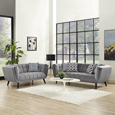 Seneca 2 Piece Living Room Set Color: Light Gray