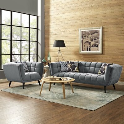 Seneca 2 Piece Living Room Set Color: Gray