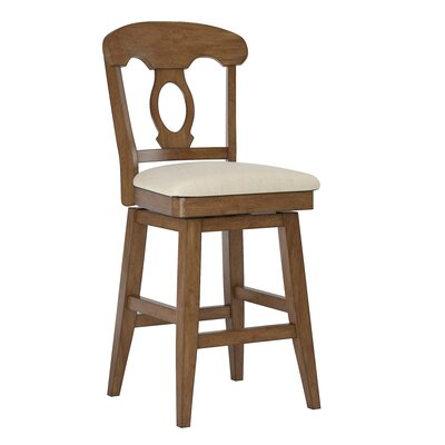Colasanto 25.78 Swivel Bar Stool Frame Color: Oak
