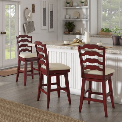 Colasanto 25.78 Swivel Bar Stool Frame Color: Red
