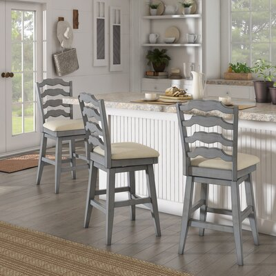 Colasanto 25.78 Swivel Bar Stool Frame Color: Gray