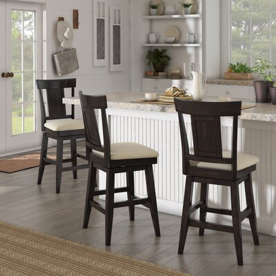 Colasanto 25.78 Swivel Bar Stool Frame Color: Black