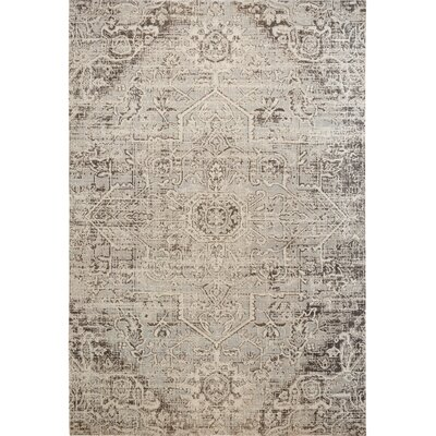 Medallion Sofia Gray Indoor/Outdoor Area Rug Rug Size: Rectangle 53 x 72