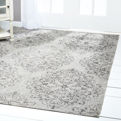 Sofia Damask Gray Indoor/Outdoor Area Rug Rug Size: Rectangle 79 x 102