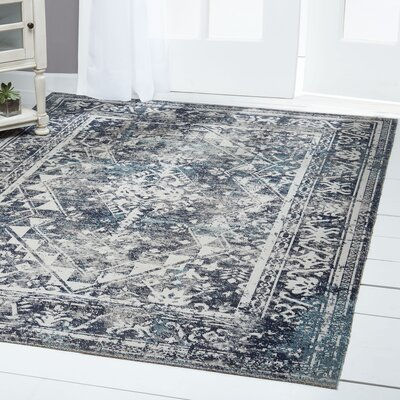 Sofia Gray Indoor/Outdoor Area Rug Rug Size: Rectangle 79 x 102