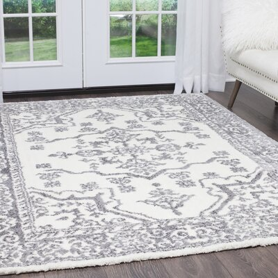 Hennings Shag Ivory Area Rug Rug Size: Rectangle 52 x 72