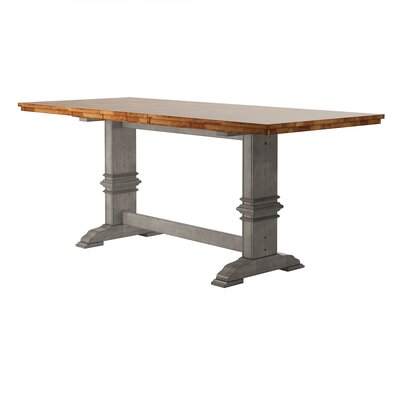 Mariotti Counter Height Extendable Dining Table Base Color: Antique Gray