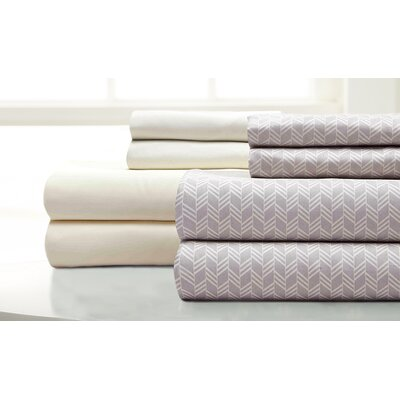 Maglio Fletch 8 Piece Microfiber Sheet Set Size: Queen, Color: Oatmeal