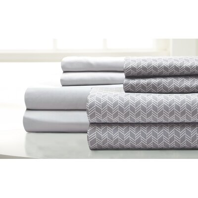 Maglio Fletch 8 Piece Microfiber Sheet Set Size: California King, Color: Silver